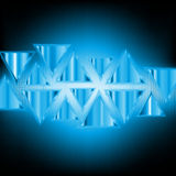 Abstract background of neon triangles Royalty Free Stock Photo