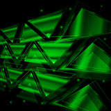 Abstract background of neon triangles Stock Images