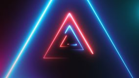 Abstract background with neon triangles Stock Image