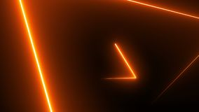 Abstract background with neon triangles Royalty Free Stock Images