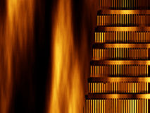 Abstract background- Nero burned Rome Royalty Free Stock Photos