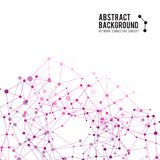 Abstract background network connect concept - vector Stock Image