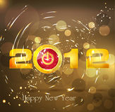 Abstract background New Year, with a button Stock Images