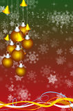 Abstract background with New Year's toys Royalty Free Stock Image