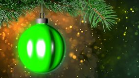 Christmas background with nice ball 3D rendering. Abstract Background with nice ball royalty free illustration