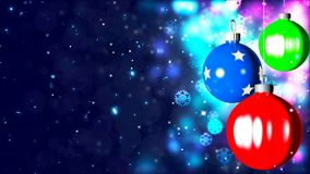 Background with nice christmas balls 3D rendering. Abstract Background with nice christmas balls Royalty Free Stock Images