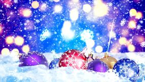 Background with nice christmas balls 3D rendering. Abstract Background with nice christmas balls Stock Photo