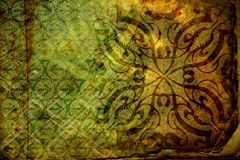 Abstract background no. 3. Layered illustration of green abstract grunge background stock illustration