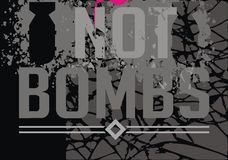 Abstract background, not war. Abstract background not bombs, not war royalty free illustration
