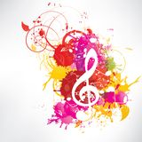 Abstract background notes and splatter. This is file of EPS10 format vector illustration