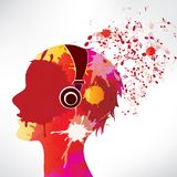 Abstract background notes and splatter Stock Images