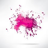 Abstract background notes and splatter Stock Image