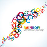 Abstract background with numbers. Abstract background with colorful rainbow numbers Stock Photography