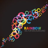 Abstract background with numbers. Abstract background with colorful rainbow numbers Stock Photos