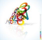 Abstract background with numbers. Abstract background with colorful rainbow numbers Royalty Free Stock Photo