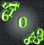Abstract background with numbers Stock Photos