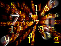 Abstract background with numbers. Motion blur Royalty Free Stock Photography