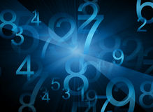 Abstract  background with numbers Royalty Free Stock Photos
