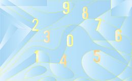 Abstract background with numbers, Vector art EPS10. Abstract background with numbers. Vector art EPS10 Royalty Free Stock Photography