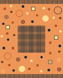 Abstract background. NWelcome frame on a geometric background Royalty Free Stock Photo