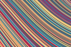 Abstract background with oblique wavy lines. Vector illustration. Colorful rainbow color Vector Illustration