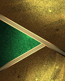Abstract Background Of Gold Leaf With A Green Cutout. Element For Design. Template For Design. Copy Space For Ad Brochure Or Annou Royalty Free Stock Photography
