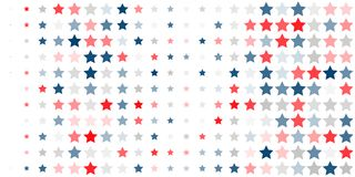 Free Abstract Background Of Red, Blue, White Stars Royalty Free Stock Photo - 125044745