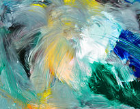 Abstract background - oil painting Royalty Free Stock Photos