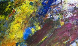 Abstract background of oil paints Royalty Free Stock Photo