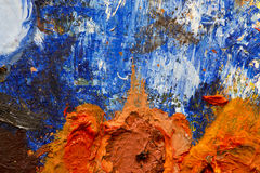 Abstract background of oil paints Stock Photos