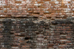 Abstract background of old brickwork. Old, cracked, weathered br Stock Photo