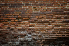 Abstract background of old brickwork. Old, cracked, weathered br Royalty Free Stock Photo