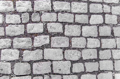 Abstract background of old cobblestone pavement Stock Images