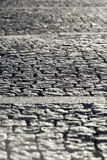 Abstract Background of Old Cobblestone Pavement Road Stock Photos