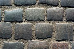 Abstract background of old cobblestone pavement Stock Photography