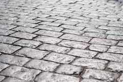 Abstract background of old cobblestone pavement Royalty Free Stock Photos