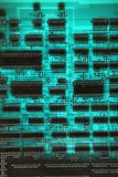 Abstract background with old computer circuit board Royalty Free Stock Photography