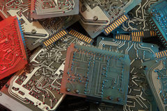 Abstract background with old computer circuit board Royalty Free Stock Photos