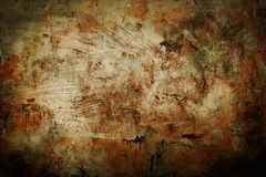 Abstract background old grunge painting sepia and black vignette. Reddisg grungy background or texture with dark vignette royalty free stock photography