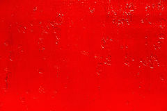 Abstract background of old red paint on the metal surface.  Stock Photos