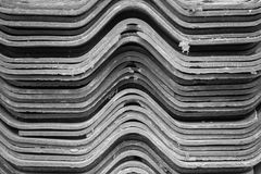 Abstract background, old roof tiles Royalty Free Stock Images
