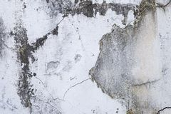 Abstract background of old stain on crack concrete wall background Stock Photos