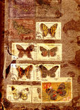 Abstract background with old stamps Stock Photography
