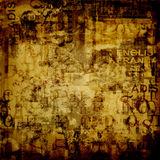 Abstract background with old torn posters Stock Image