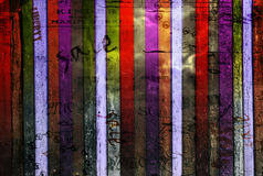 Abstract background with old torn posters Stock Images