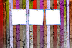 Abstract background with old torn posters Stock Photo