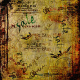 Abstract background with old torn posters Royalty Free Stock Image