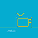 Abstract background with old TV Royalty Free Stock Photo