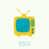 Abstract background with old TV and antenna. Browse TV shows, commercials, movies and TV series. homeliness. Flat design vector illustration