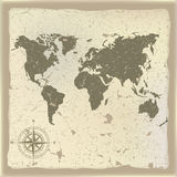Abstract background with olden map Stock Photos